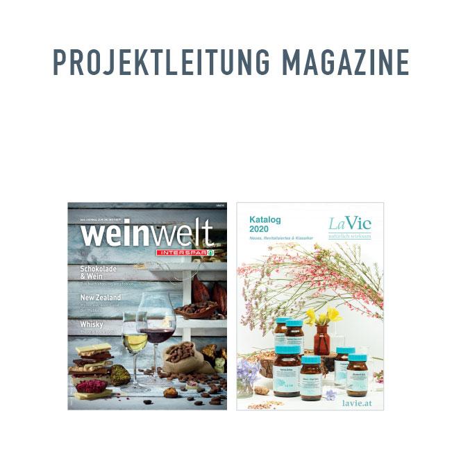 Projektleitung Magazine